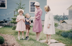 Home from church, around 1961
