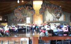 Devout crowd at mass